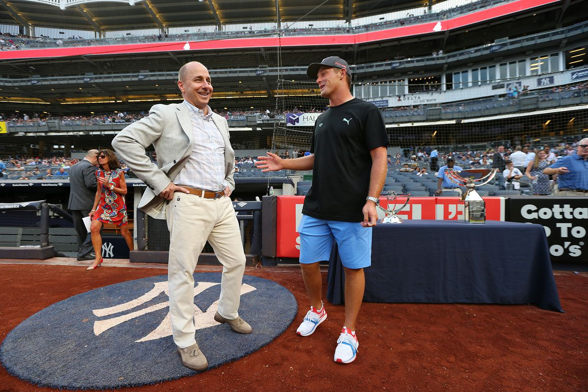 Bryson DeChambeau Throws First Pitch At New York Yankees Game