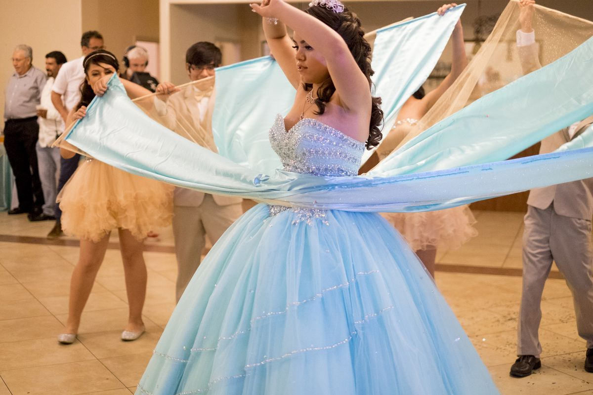 girl at quinceanera