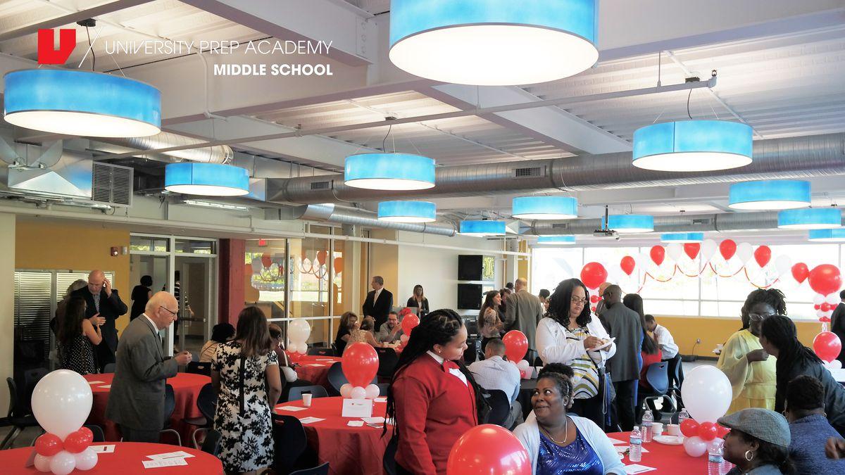 University Prep Academy celebrated its $6 million renovation this week.
