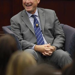 United States Supreme Court Associate Justice Samuel A. Alito, Jr. speaks during a fireside chat event at Roger Williams University Law School in Bristol, RI., Friday, Sept. 14, 2012.
