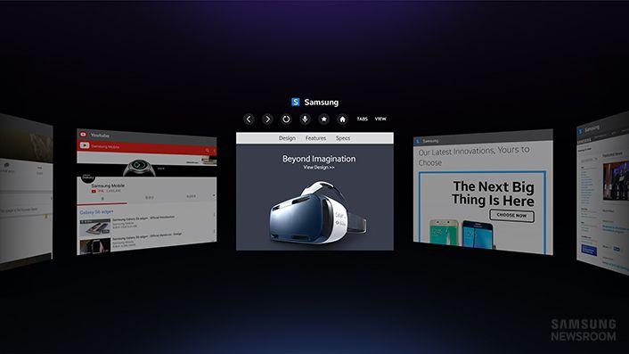 Samsung Gear VR Internet