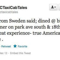 """Swedes <a href=""""https://twitter.com/nyctaxicabtales/status/279629265299976192"""">love Big Daddy's</a>?"""