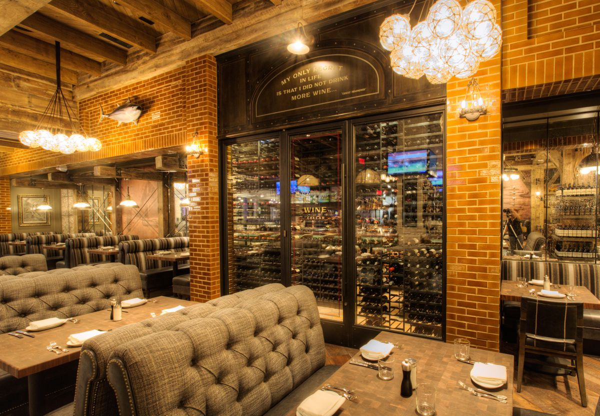 The wine cellar at Water Grill