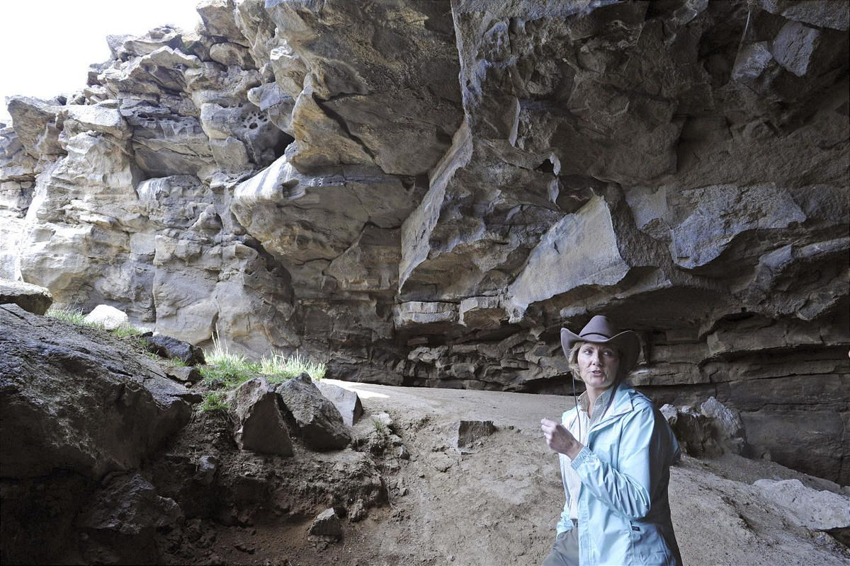 BLM archaeologist Suzann Henrikson talks about potential for discoveries in Wasden caves.