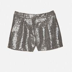 """From Intermix, Diane von Furstenberg's  <a href=""""http://www.intermixonline.com/product/diane+von+furstenberg+sequin+tweed+shorts.do?"""">Sequin Tweed Shorts</a> ($365)."""