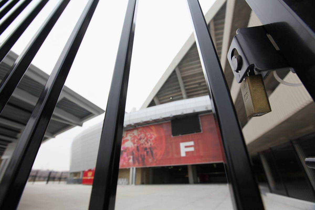 KANSAS CITY, MO - MARCH 04:  A general view of Arrowhead Stadium as the NFL lockout looms while negotiations are extended on March 4, 2011 at Arrowhead Stadium in Kansas City, Missouri.  (Photo by Jamie Squire/Getty Images)
