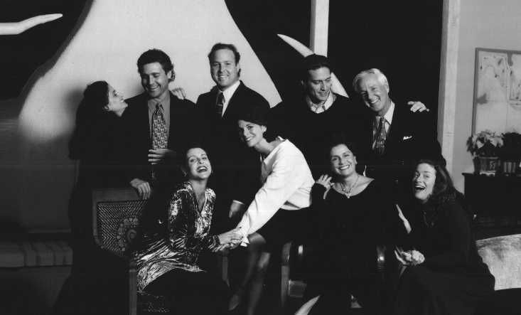 Beatriz Bensinger (front row, second from right, with her husband Roger's hand on her shoulder), and their seven children and stepchildren. | Family photo