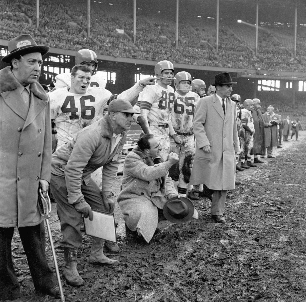 Cleveland Browns Coach Paul Brown, 1954 NFL Championship
