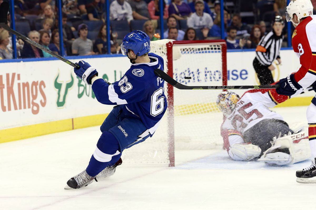 Center Matt Peca was among those cut from the Lightning training camp roster.