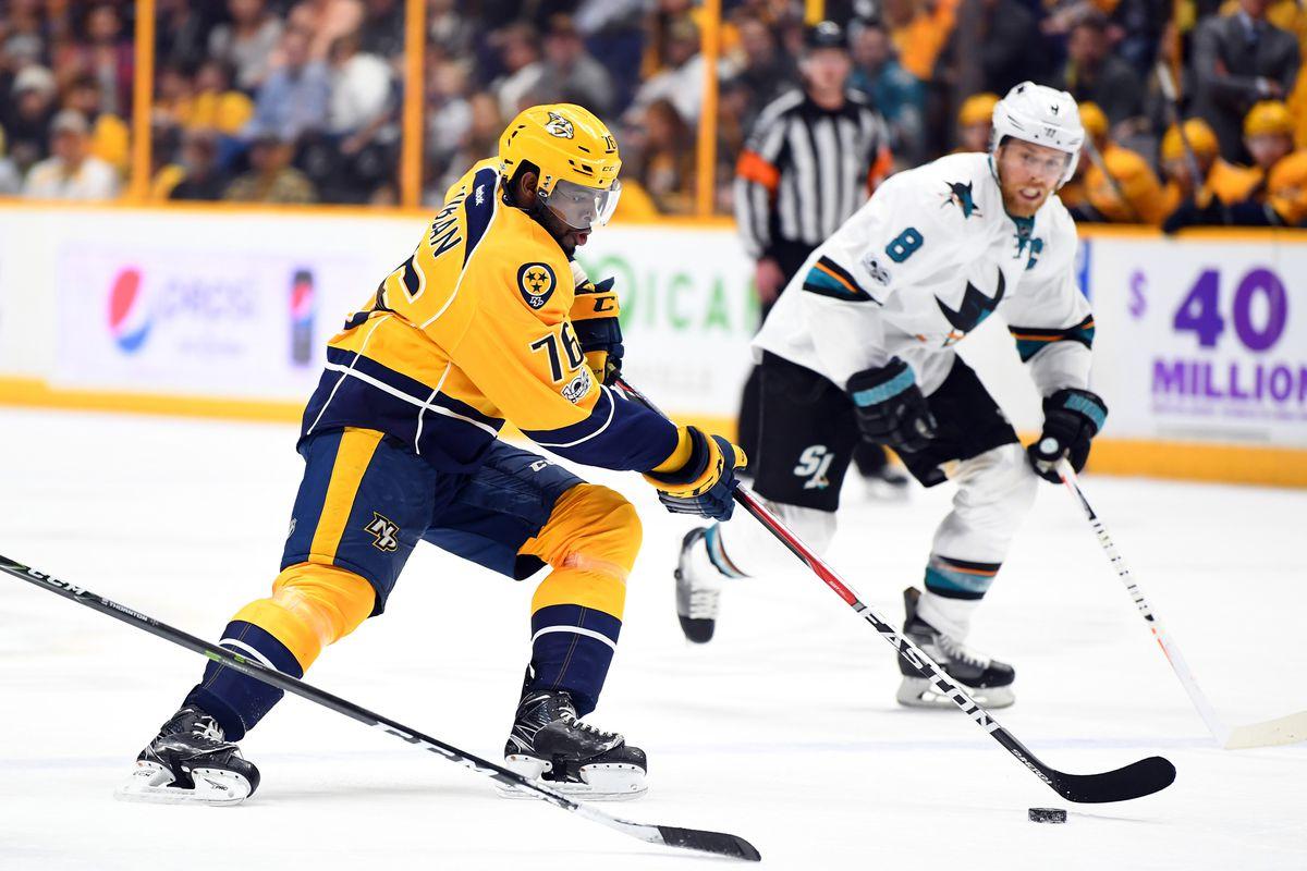 NHL: San Jose Sharks at Nashville Predators