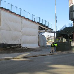 The right field corner, under wraps as usual