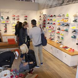 The women's shoe section is larger than the entire men's section.