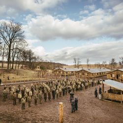 """The set where """"Instrument of War"""" was filmed is located in Lithuania, a """"very cold and a great place to work,"""" according to director Adam Thomas Anderegg."""