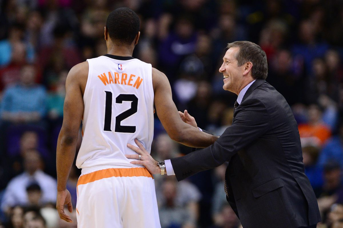 Guys, Hornacek is totally cook with T.J. Warren.  Look at that smile!