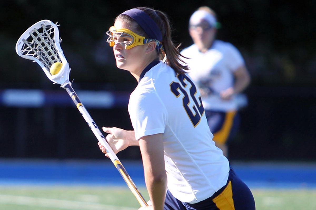 Hayley Baas was one of two Golden Eagles with two goals against Rutgers.