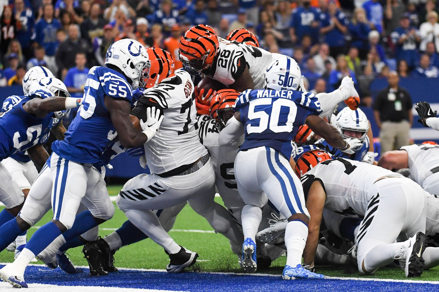 colts bengals betting line