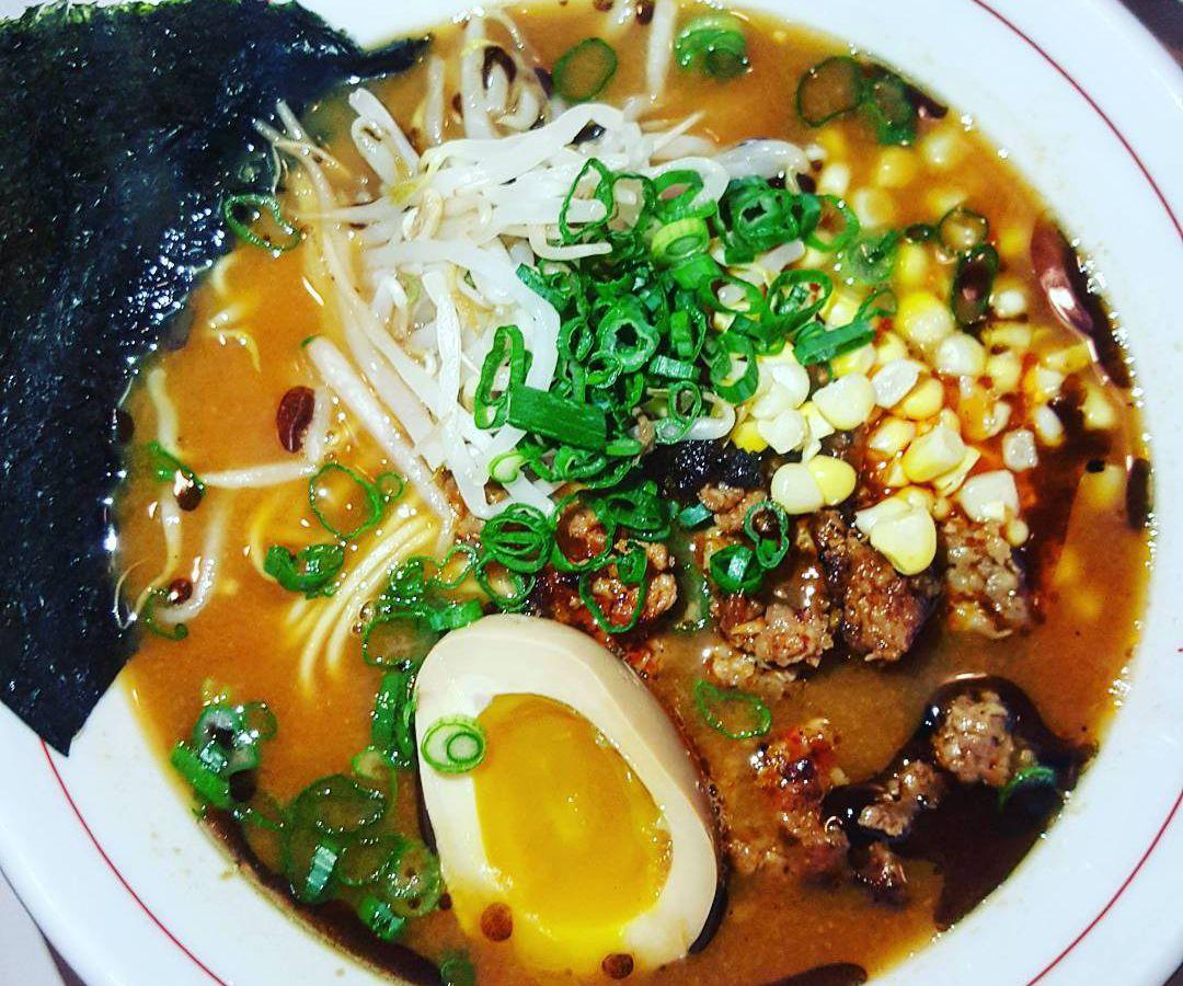Spicy miso ramen at Little Big Diner