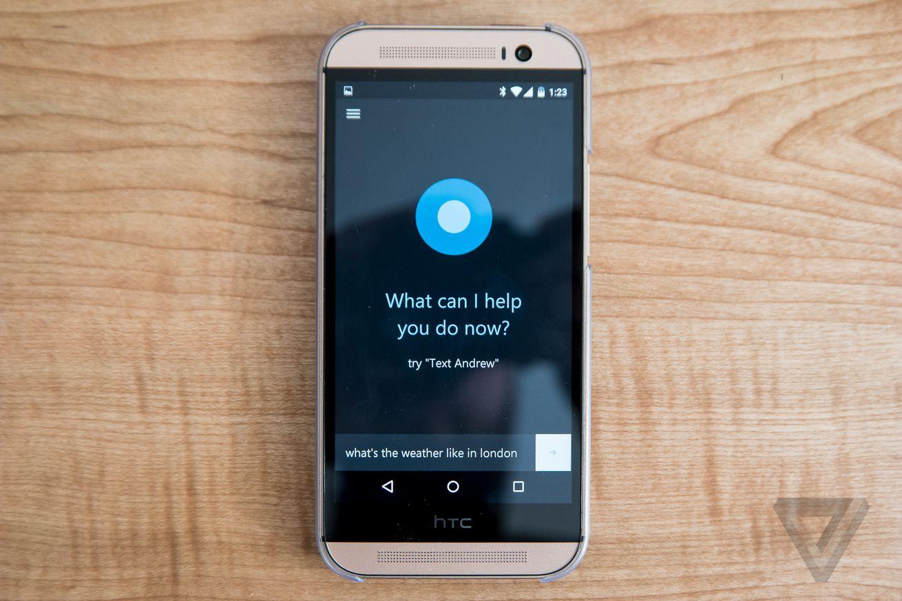 Cortana for Android screenshots
