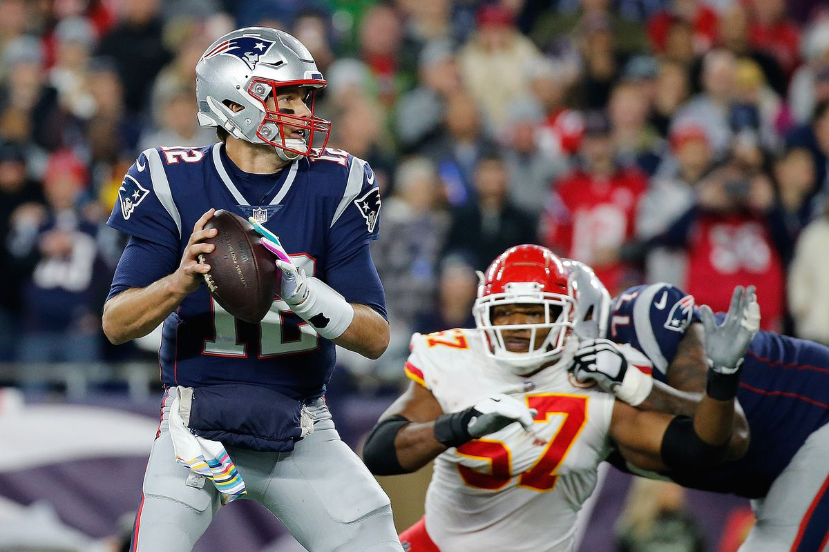 72bcd4d5f 2019 AFC Championship Game  Patriots vs. Chiefs is Brady-Mahomes ...