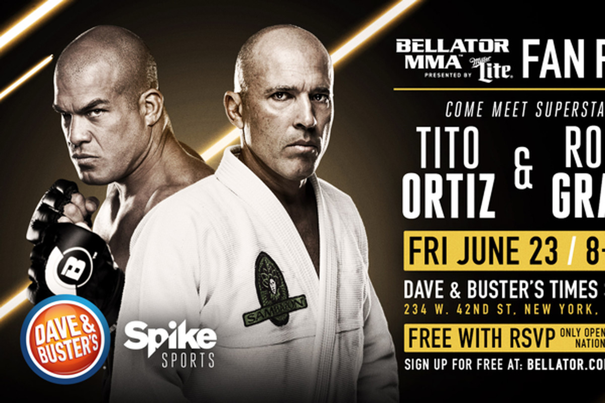 Bellator Nation Invited To Meet Tito Ortiz Royce Gracie At Dave
