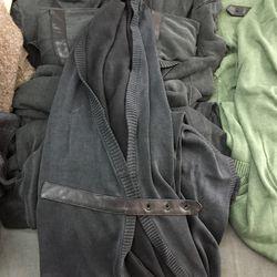 Revised belted kota in black, $160