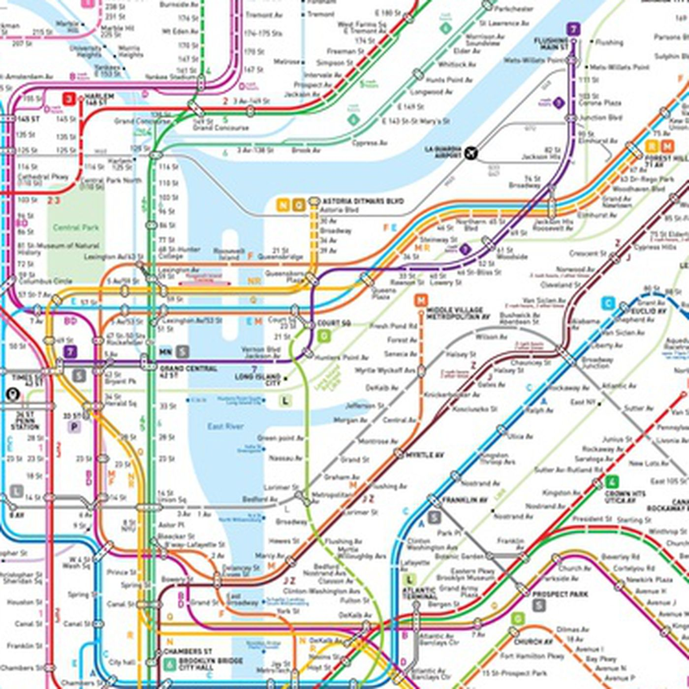 Subway Maps Of Nyc.This New Nyc Subway Map May Be The Clearest One Yet Curbed Ny