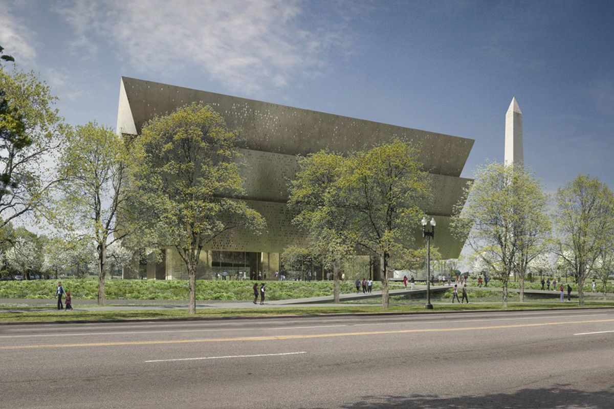 Rendering of the Smithsonian Museum of African American History