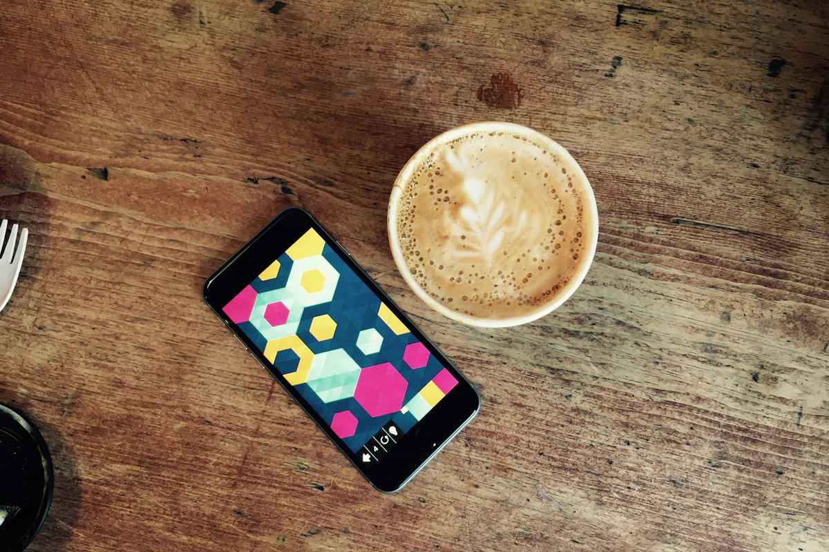 iPhone puzzle game Kami 2 goes perfectly with your morning