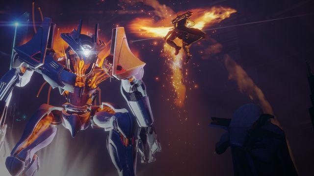 Screenshot of a strike from Destiny 2
