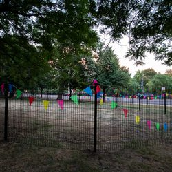 Phase One of the dog park buildout was fencing the area. I Maria de la Guardia/Sun-Times