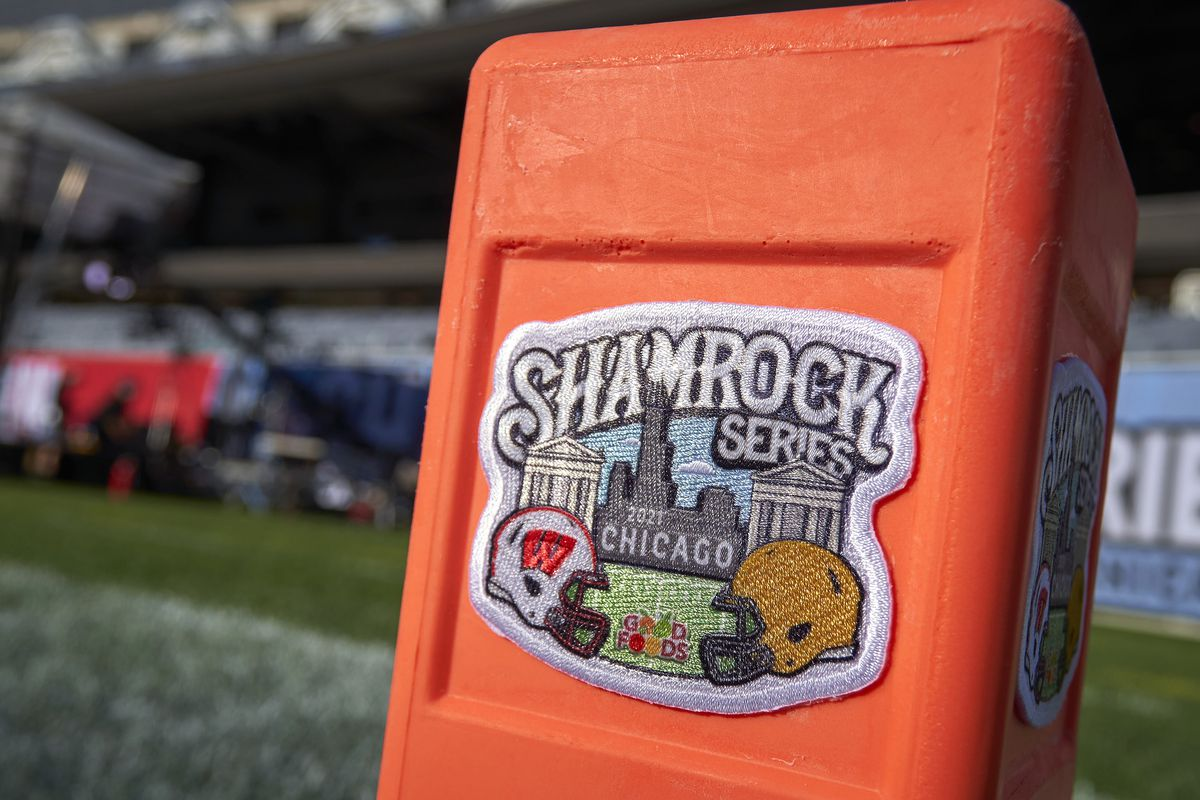 COLLEGE FOOTBALL: SEP 25 Shamrock Series - Notre Dame v Wisconsin