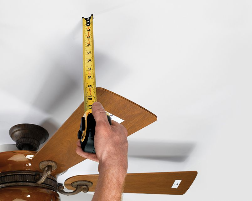 Measure Distance Between Blade's Leading Edge And Ceiling To Balance Fan