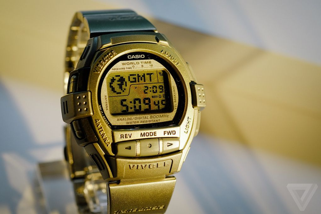 The original smartwatches casios history of wild wrist designs of all the watches casio is showing off this one blew my mind the most the vivcel vcl 100 had an antenna that detected when your phone was ringing gumiabroncs Images