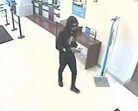 Surveillance image of the suspect in a May 17 robbery at the Chase Bank branch at 1934 S. State St.