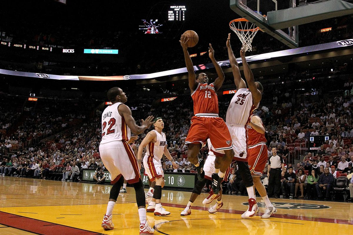 Despite a painful knee energy, Mbah a Moute found new life in the Bucks' improved offense.