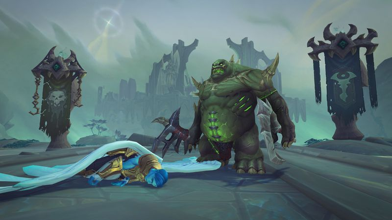 Zombie fights the Kyrian in Bastion Shadowlands