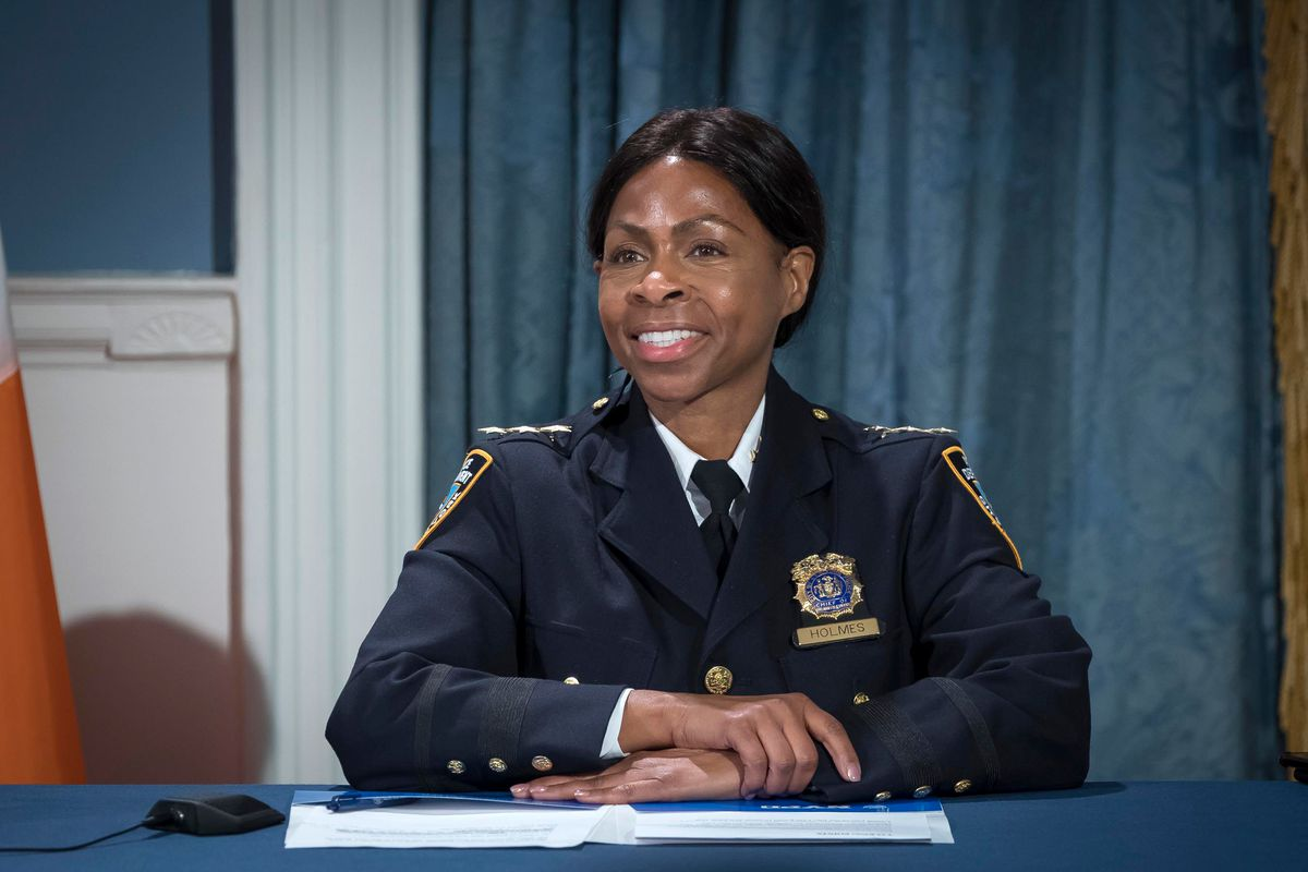 Chief of Patrol Juanita Holmes during a press conference at City Hall announcing her appointment, Oct. 29, 2020.