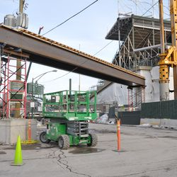 Another view of the broadcast cable bridge on Waveland -