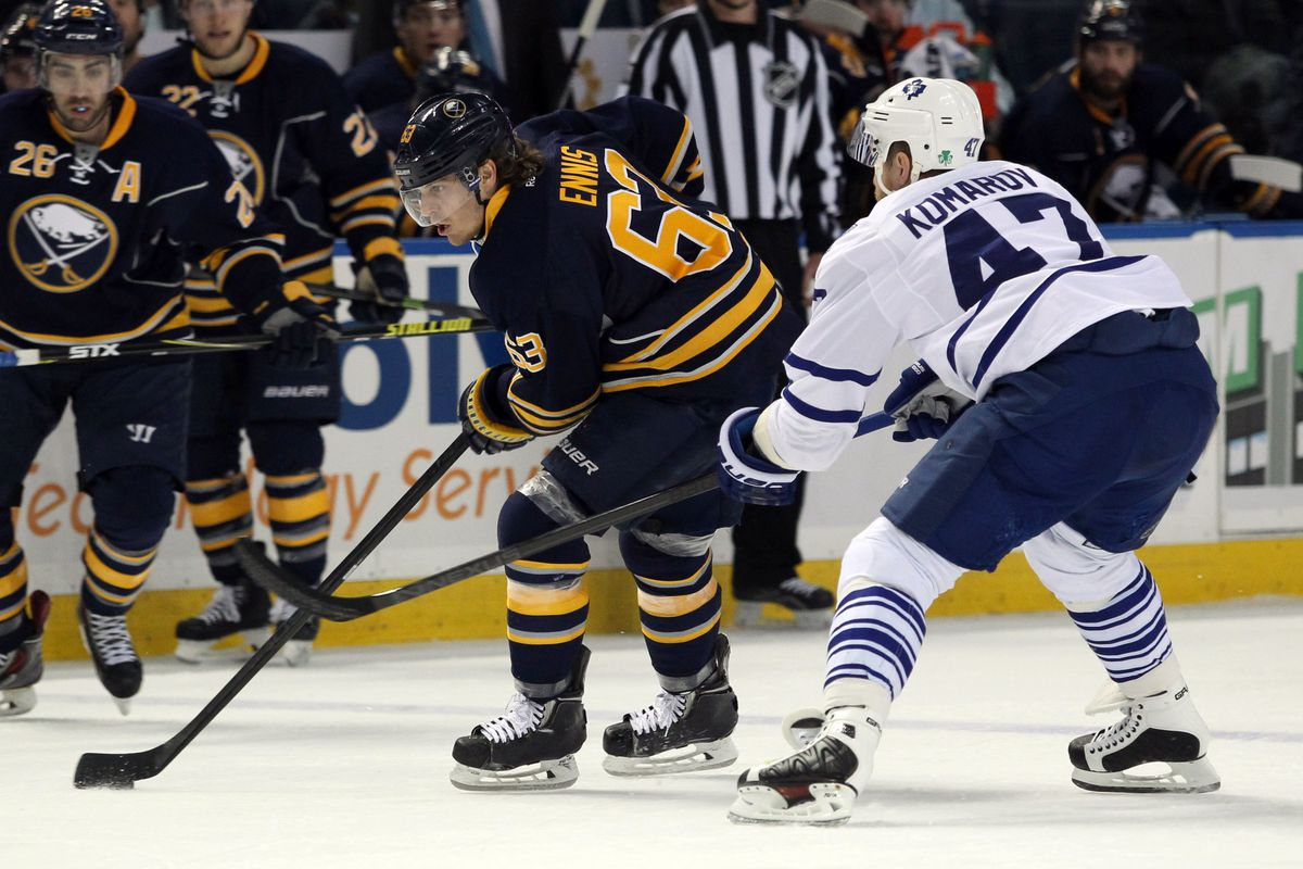 Tyler Ennis and the Sabres will look to get things going, offensively, against the Maple Leafs.