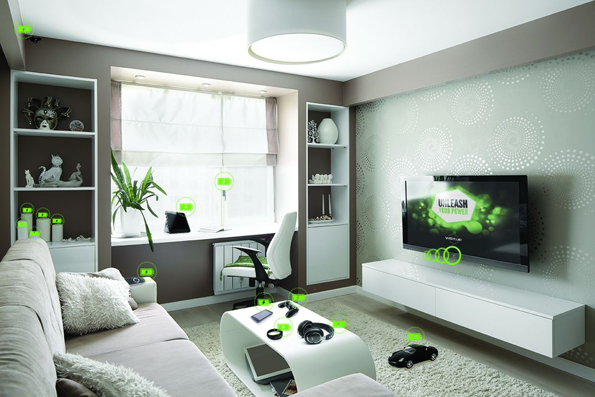Energous wireless charging illustration