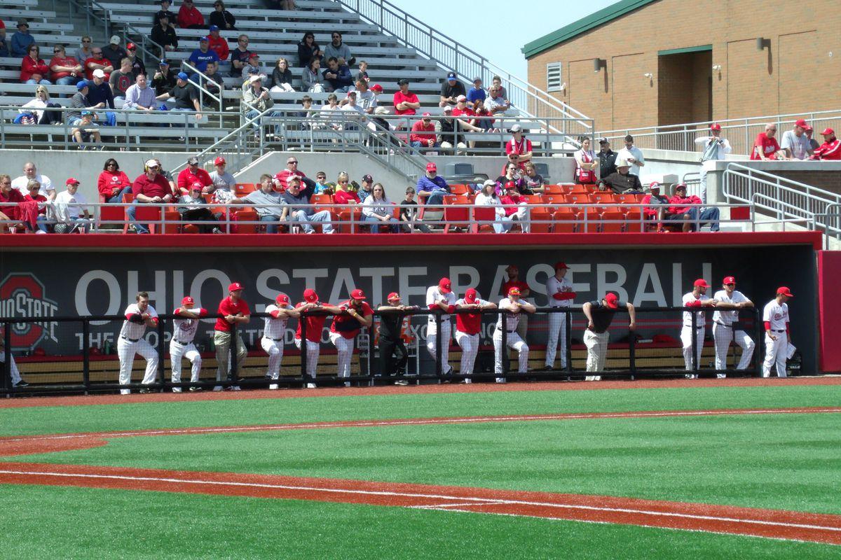 Ohio State baseball dugout