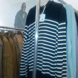 Mens striped sweater, $35