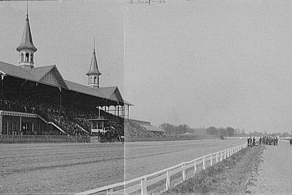 Churchill Downs in 1901. Wikimedia Commons