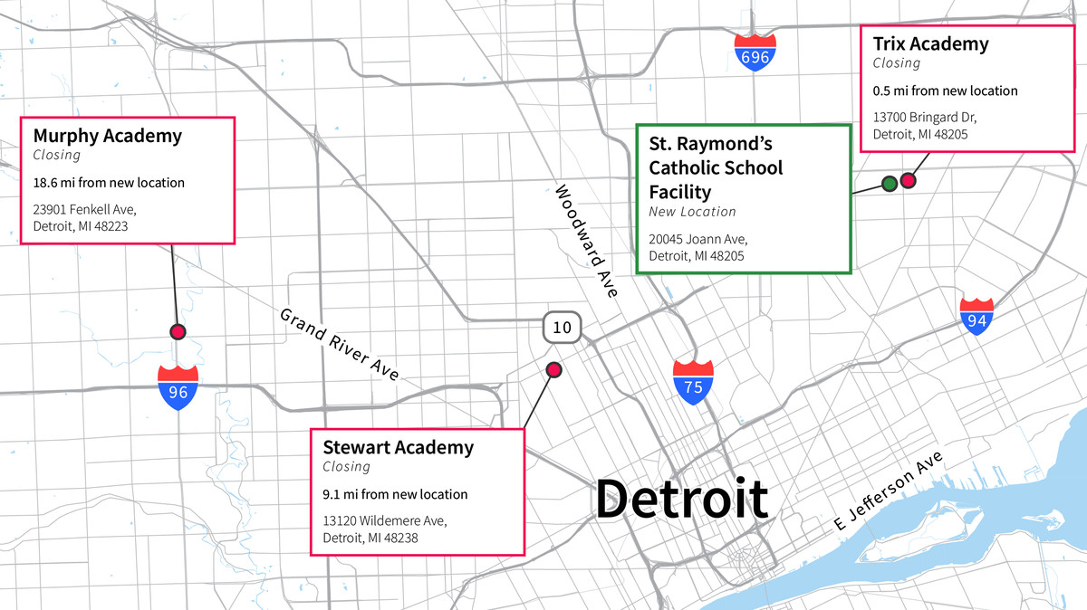 Families whose students previously attended Murphy and Stewart Academies must commute to the other side of the city if they want to stick with the same teachers and administrators.