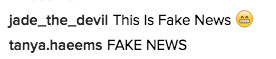 Fox News Instagram comment on Trump's taped-together tie