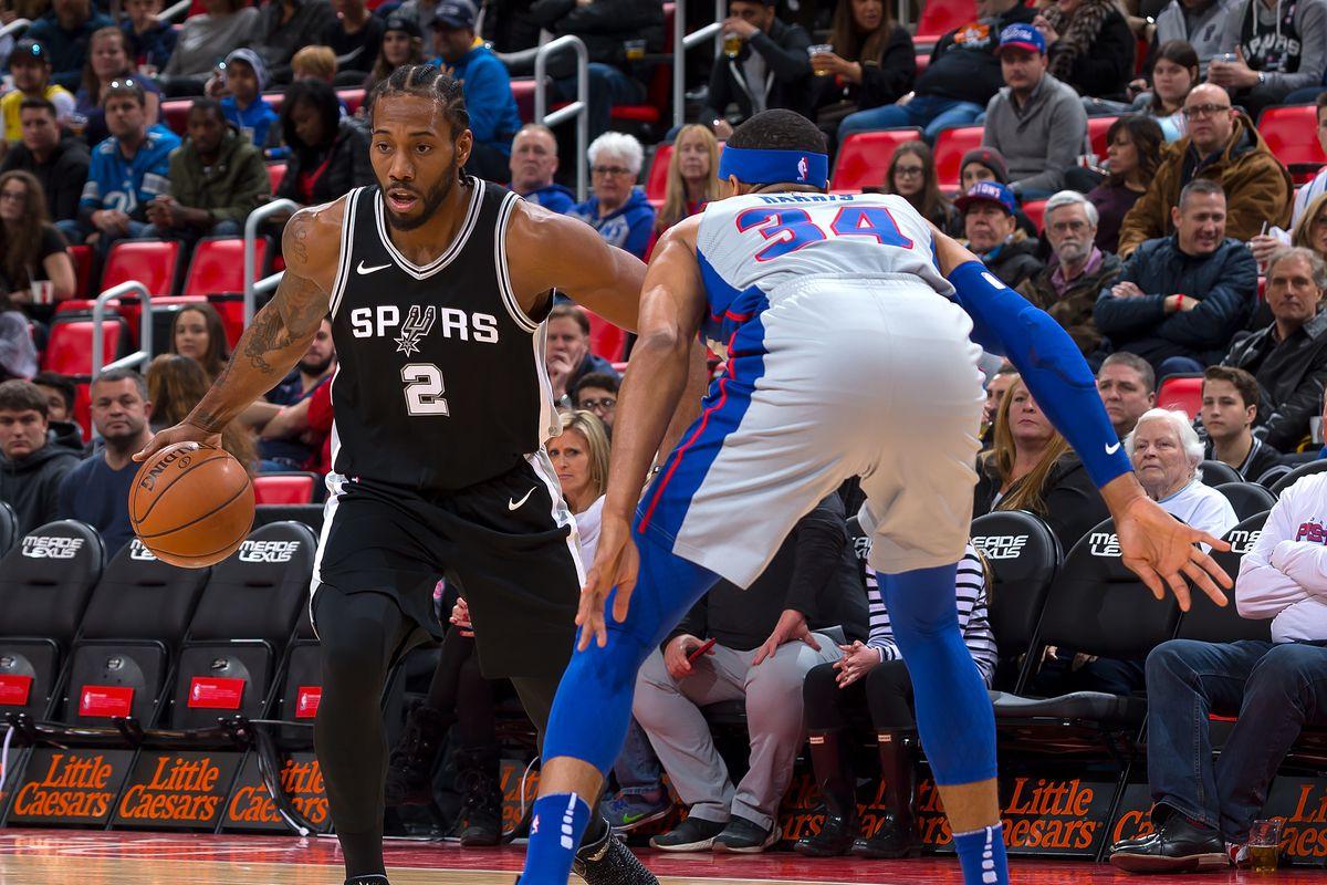 San Antonio Spurs v Detroit Pistons