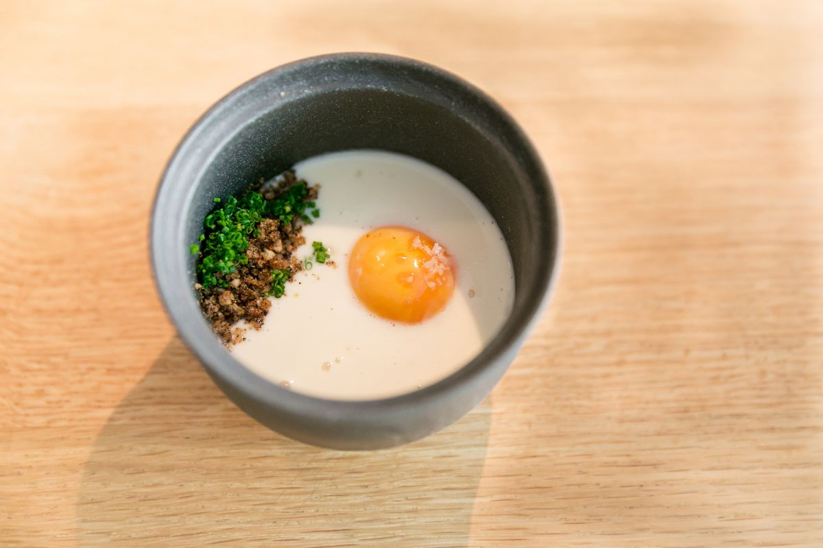 A dish at two Michelin star restaurant Commis in Oakland by chef James Syhabout, who will guest chef at Lyle's in Shoreditch
