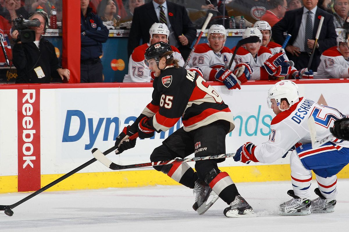 Erik Karlsson can be the best defenceman in Senators history. Does he have a Norris Trophy in his future? (Photo by Jana Chytilova/Freestyle Photography/Getty Images)