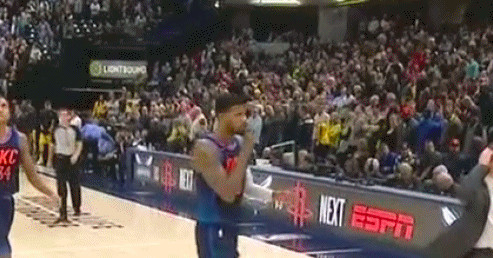 Paul George shh'd the Pacers crowd after hitting two late free throws