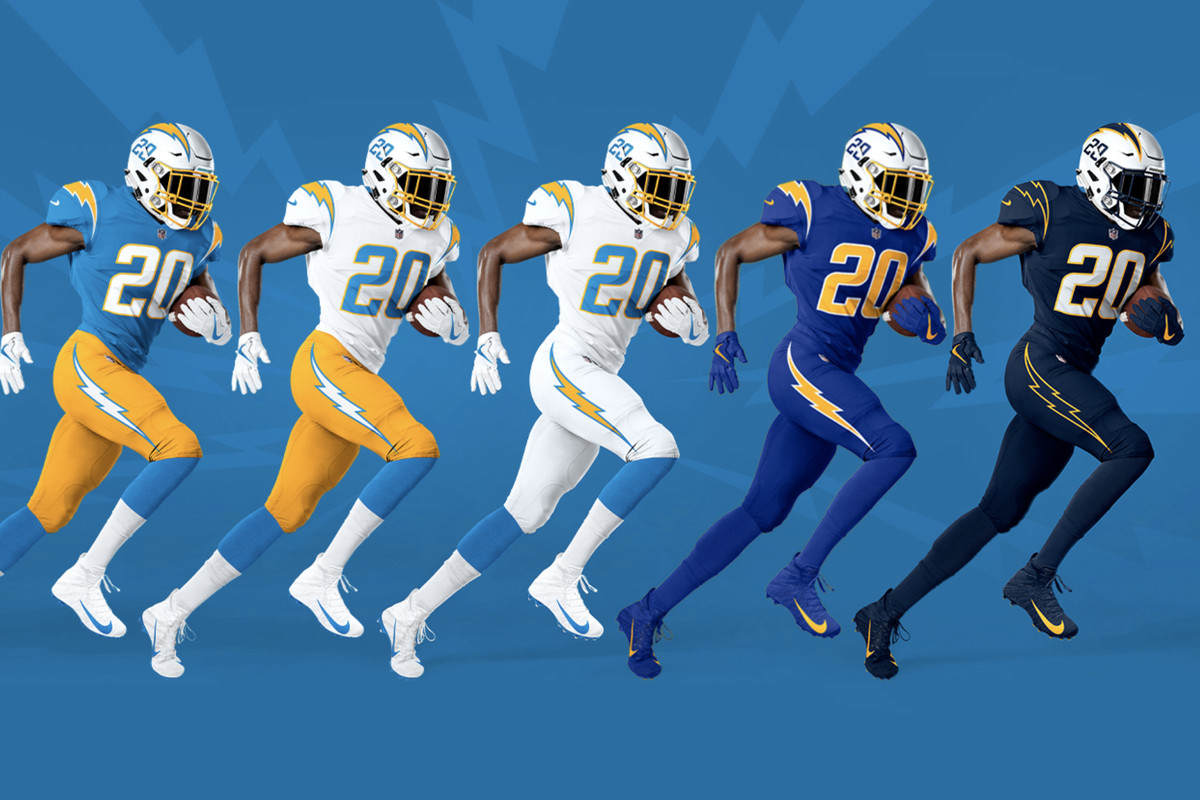 Chargers News Home Run Re Design Only Solidified By Rams Uniform Reveal Bolts From The Blue